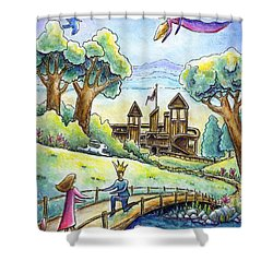 Shower Curtain featuring the painting I Give You My Heart by Retta Stephenson