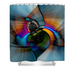 I Got The Blues Shower Curtain by Cathy Donohoue
