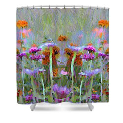 I Got To Get Back To The Garden Shower Curtain by Bill Cannon