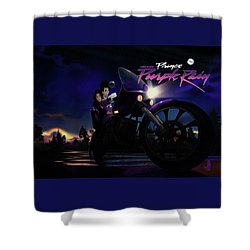 I Grew Up With Purplerain 2 Shower Curtain