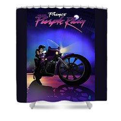 I Grew Up With Purplerain Shower Curtain