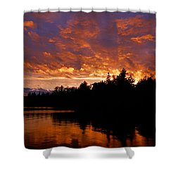 I Have Seen Rain And I Have Seen Fire Shower Curtain by Larry Ricker
