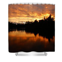 I Have Seen Stormy Days That I Thought Would Never End Shower Curtain by Larry Ricker