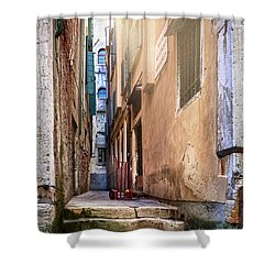 I Have Seen Your Trolley, Somewhere In Venice Shower Curtain