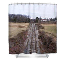 I Hear That Train A Comin' Shower Curtain by Adam Cornelison