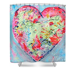 I Heart Shower Curtain by Gail Butters Cohen