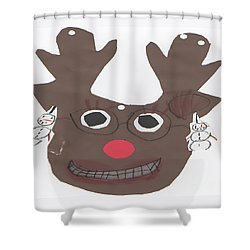 I Just Love Christmas Shower Curtain