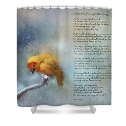 I Know Why The Caged Bird Sings - Maya Angelou Shower Curtain