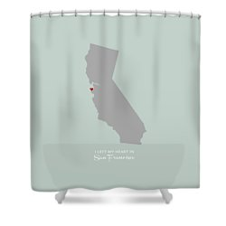 I Left My Heart In Sf Shower Curtain