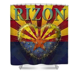I Love Arizona Flag Shower Curtain