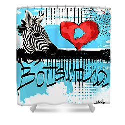 I Love Botswana  Shower Curtain by Sladjana Lazarevic
