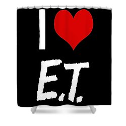 I Love E.t. Shower Curtain by Gina Dsgn