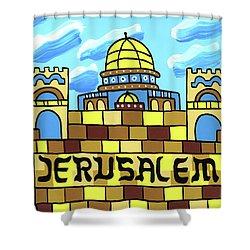 I Love Jerusalem Shower Curtain