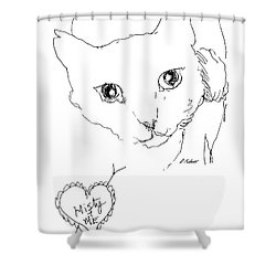 I Love Misty Shower Curtain by Denise Fulmer