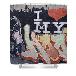 I Love My Hood Shower Curtain by Cole Thompson