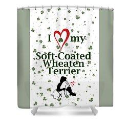 I Love My Wheaten Terrier Shower Curtain
