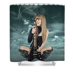I Love Rock And Roll Shower Curtain