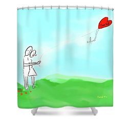 I Love Us Shower Curtain