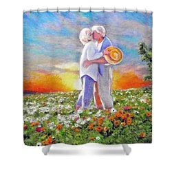 I Love You Darling Shower Curtain by Michael Durst
