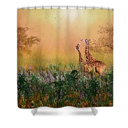 I Love You Mom Shower Curtain by Diane Schuster