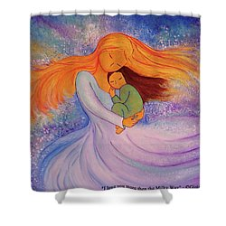 I Love You More Then The Milky Way Shower Curtain