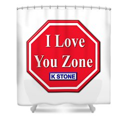 I Love You Zone Shower Curtain