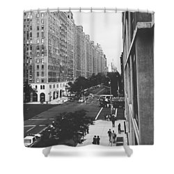 Nyc Love Shower Curtain by Sean Meier