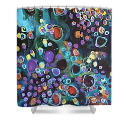 Shower Curtain featuring the painting I Need An Answer Please by Laurie Maves ART