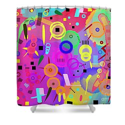Shower Curtain featuring the digital art I Once Was Happy by Silvia Ganora