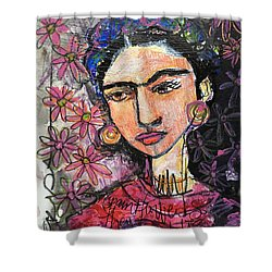 I Paint Flowers So They Will Not Die Shower Curtain by Laurie Maves ART