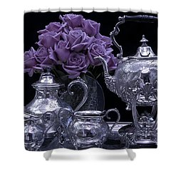I Polished My Silver For You Shower Curtain by Sandra Foster