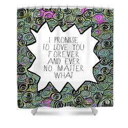 Shower Curtain featuring the painting I Promise by Lisa Weedn