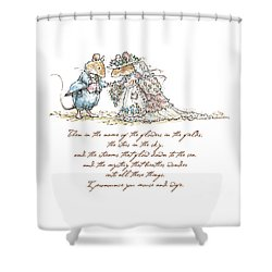I Pronounce You Mouse And Wife Shower Curtain