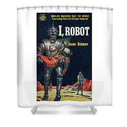 Shower Curtain featuring the painting I, Robot by Robert Schulz