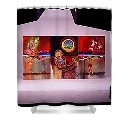 Shower Curtain featuring the painting I Saw The Figure Five In Gold by Charles Stuart