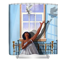 I Saw The Holy Spirit Descending Like A Dove Shower Curtain