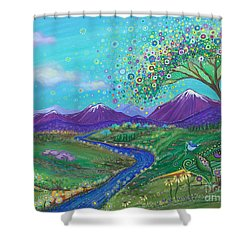 I See Skies Of Blue Shower Curtain