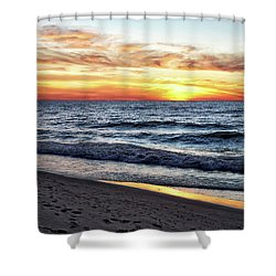 Shower Curtain featuring the photograph I See You In The Sunset by Kathi Mirto