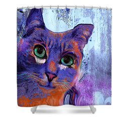 I See You Cat Shower Curtain