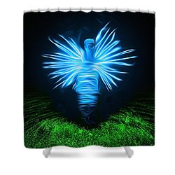 Shower Curtain featuring the photograph I Sing The Body Electric by Mark Fuller
