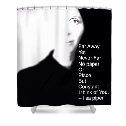 Shower Curtain featuring the digital art I Think Of You by Lisa Piper