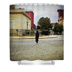 Shower Curtain featuring the photograph I Walk Alone by Brian Wallace