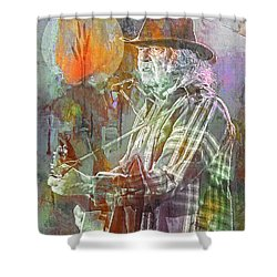 I Wanna Live, I Wanna Give Shower Curtain by Mal Bray