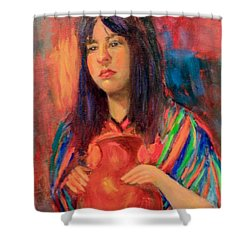 I Want This Jug Shower Curtain by Marcia Dutton