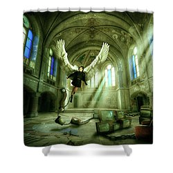 Shower Curtain featuring the digital art I Want To Brake Free by Nathan Wright
