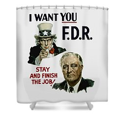 I Want You Fdr  Shower Curtain by War Is Hell Store