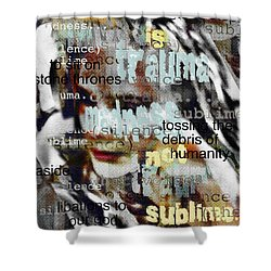 Mistaken Identity-i Will Be Silent No More Shower Curtain