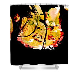 Inexorably, Time Moves Shower Curtain