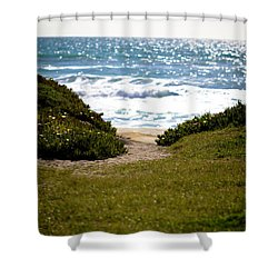 I Will Follow - Ocean Photography Shower Curtain