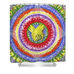 Shower Curtain featuring the painting I Will Have You And You Will Have Me #1 by Kym Nicolas